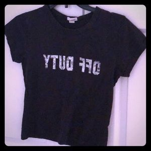 Black T-Shirt from WET SEAL